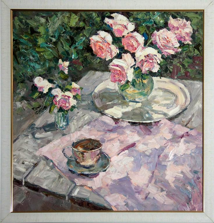 натурморт с розами